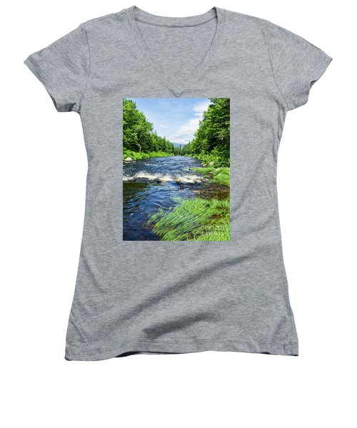 Summer Scene Rangeley Maine  -70742 Women's V-Neck