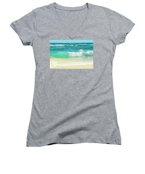 Summer Sea Women's V-Neck T-Shirt (Junior Cut) by Sharon Mau