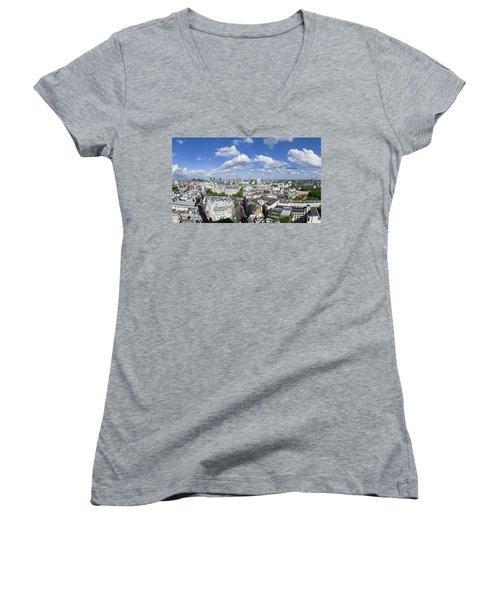 Summer Skies Over London Women's V-Neck (Athletic Fit)
