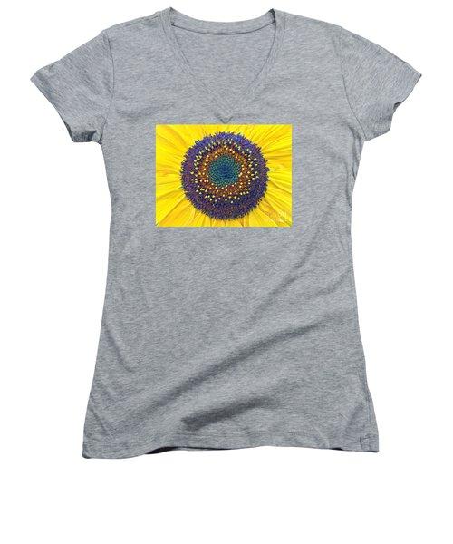 Summer Sunflower Women's V-Neck T-Shirt (Junior Cut) by Todd Breitling