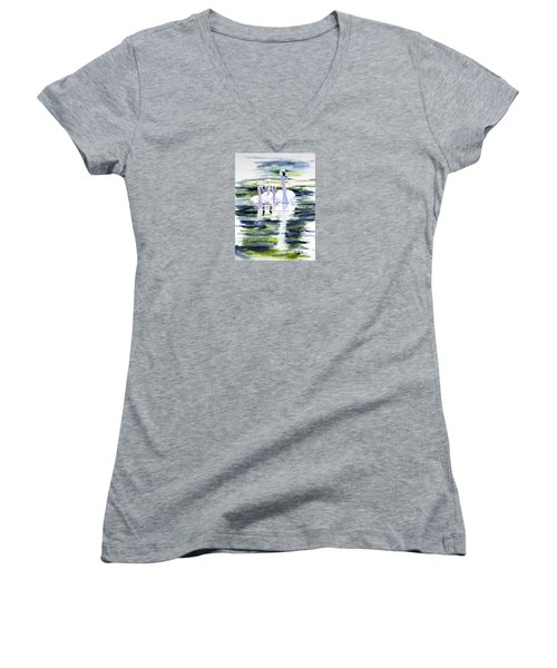 Summer Swans Women's V-Neck