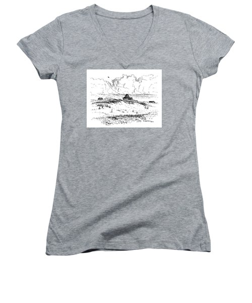 Summer Thunderheads Women's V-Neck
