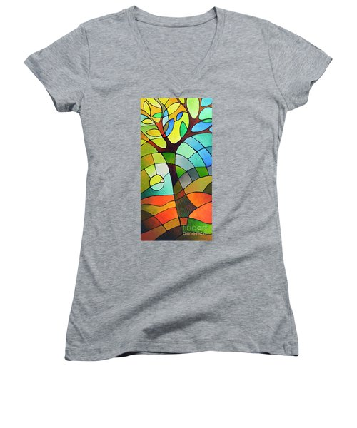Summer Tree Women's V-Neck (Athletic Fit)