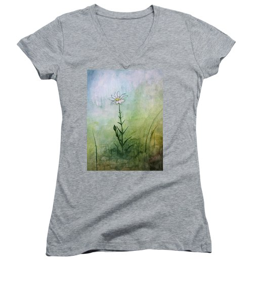 Summer Wildflower Women's V-Neck (Athletic Fit)