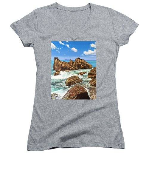 Summerfling Women's V-Neck T-Shirt (Junior Cut)