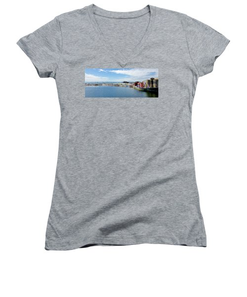 Summers End Capitola Beach Women's V-Neck T-Shirt