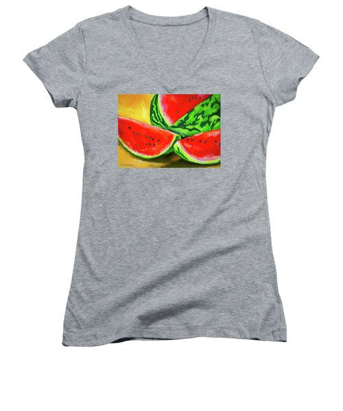 Summertime Delight Women's V-Neck (Athletic Fit)