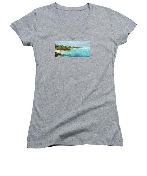Summertime, Isle Of Iona Women's V-Neck T-Shirt