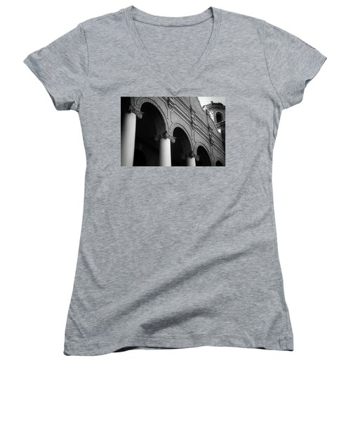 Women's V-Neck T-Shirt (Junior Cut) featuring the photograph Sumter County Courthouse by Richard Rizzo