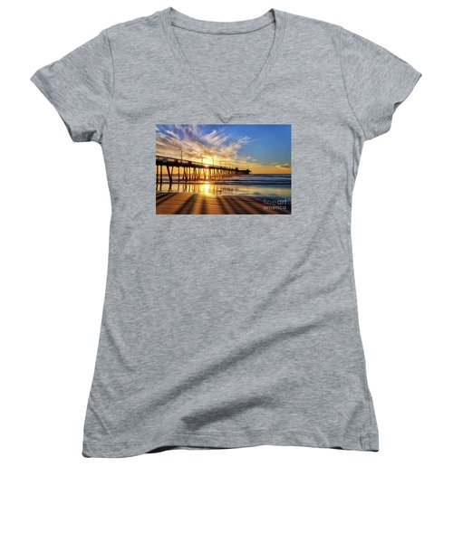 Sun And Shadows Women's V-Neck (Athletic Fit)