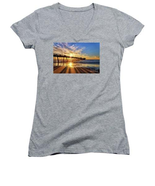 Sun And Shadows Women's V-Neck T-Shirt