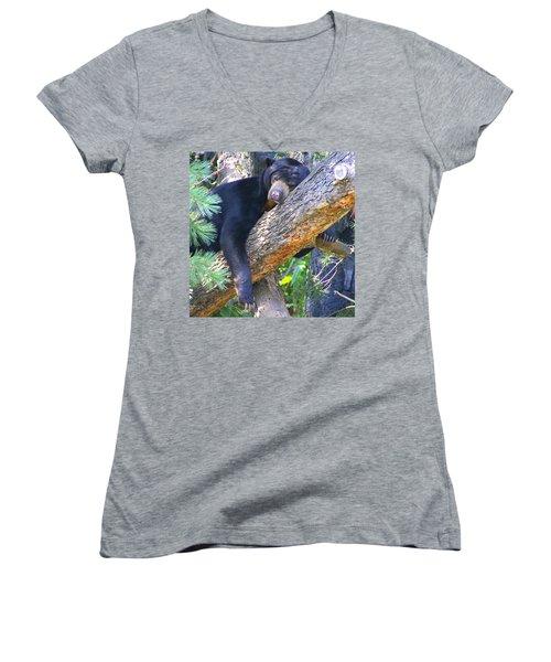 Sun  Bear - Afternoon Nap Women's V-Neck T-Shirt