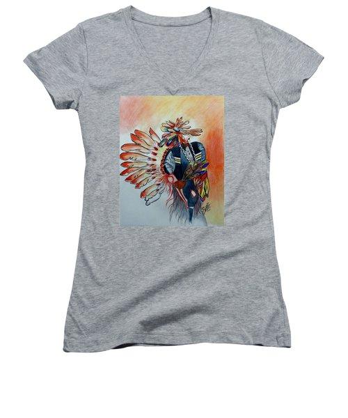 Sun Dancer Women's V-Neck T-Shirt