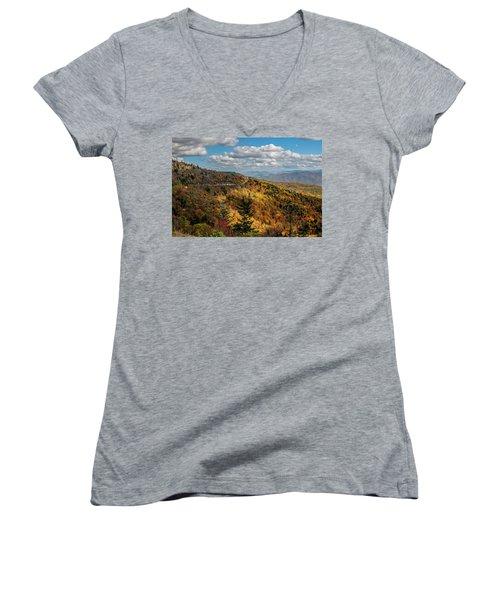 Sun Dappled Mountains Women's V-Neck