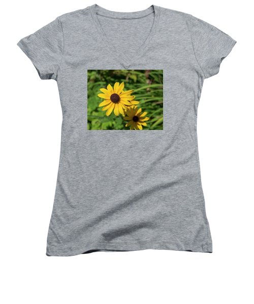 Sun Drenched Daisy Women's V-Neck (Athletic Fit)