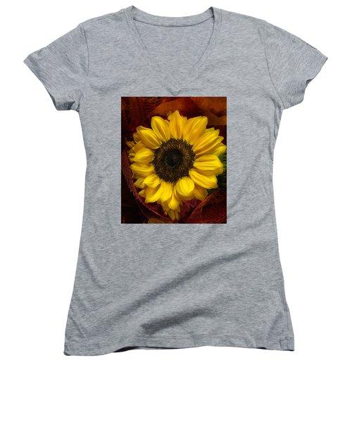 Sun In The Flower Women's V-Neck