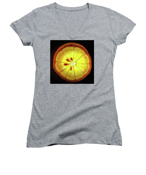 Sun Lemon Women's V-Neck T-Shirt