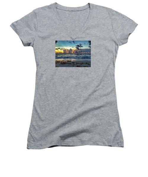 Sun Rays  Women's V-Neck T-Shirt