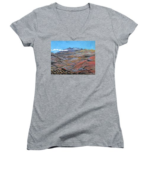 Sun Salutation At Haleakala Women's V-Neck T-Shirt