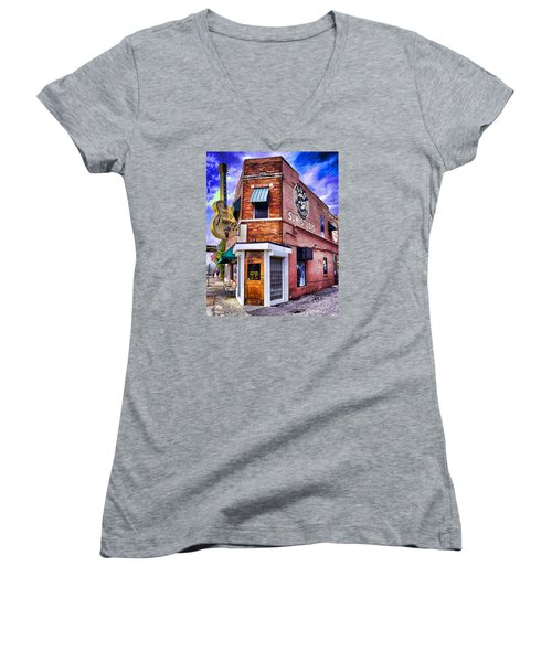 Sun Studio Women's V-Neck T-Shirt (Junior Cut) by Dennis Cox WorldViews