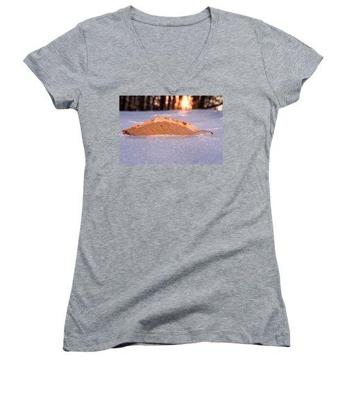 Sunbathing Women's V-Neck T-Shirt