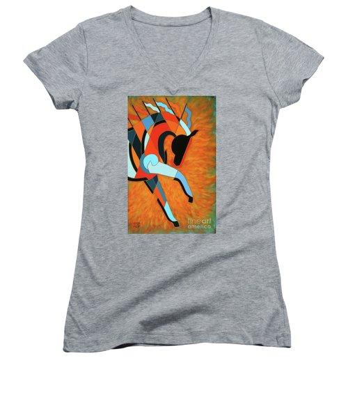 Sundancer Of The Fire I Women's V-Neck T-Shirt