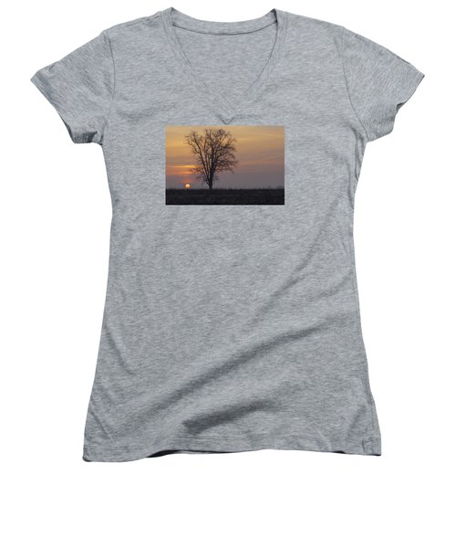 Sunday At Dawn Women's V-Neck T-Shirt (Junior Cut) by Cesare Bargiggia