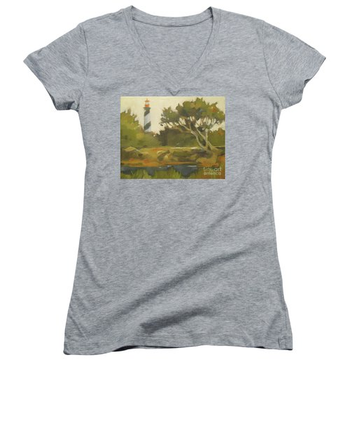 Sunday Lighthouse Women's V-Neck T-Shirt