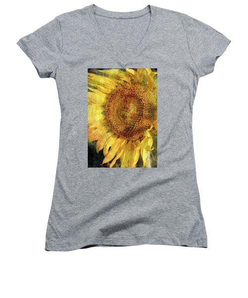 Sunflower 2254 Idp_2 Women's V-Neck (Athletic Fit)
