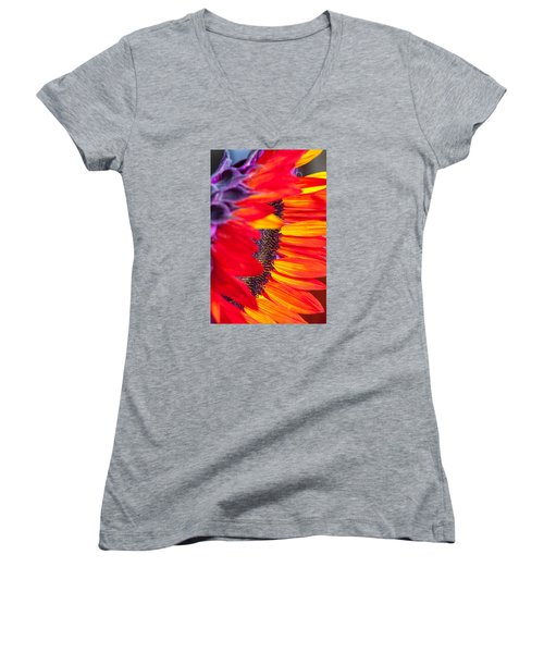 Sunflower #7 Women's V-Neck (Athletic Fit)