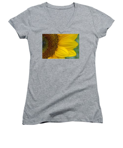 Sunflower Closeup Women's V-Neck T-Shirt
