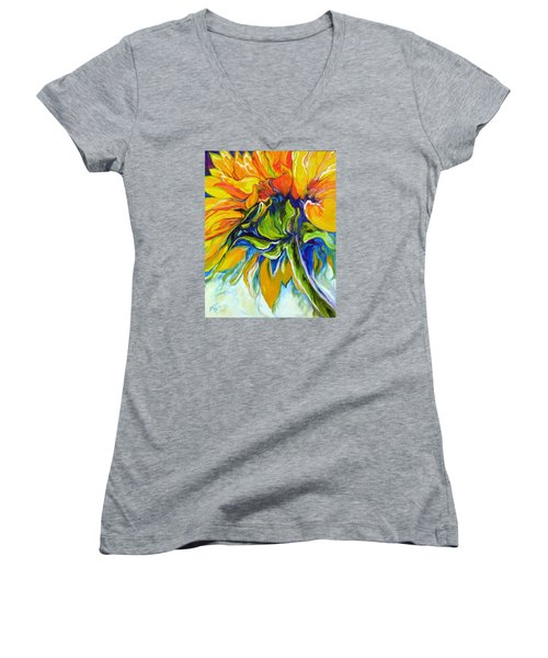 Sunflower Day Women's V-Neck (Athletic Fit)