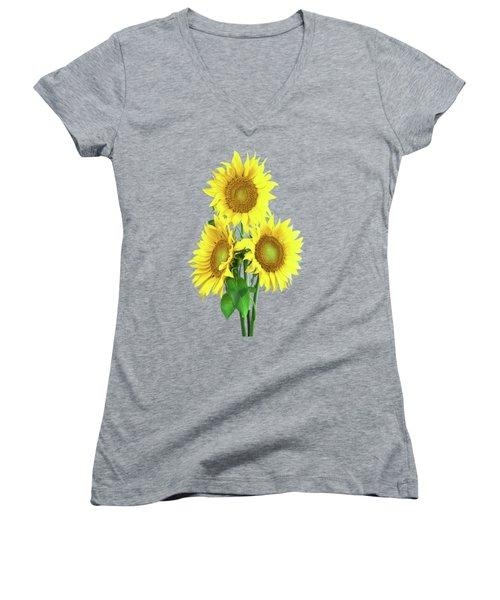 Sunflower Dreaming Women's V-Neck (Athletic Fit)