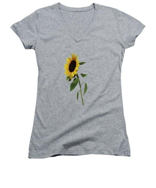 Sunflower Glow Women's V-Neck (Athletic Fit)