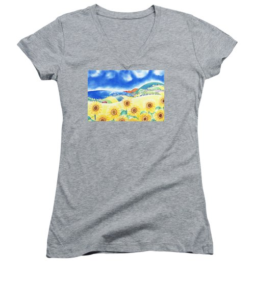 Sunflower Hills Women's V-Neck