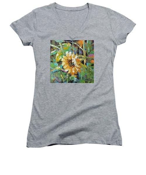Sunflower I Women's V-Neck T-Shirt