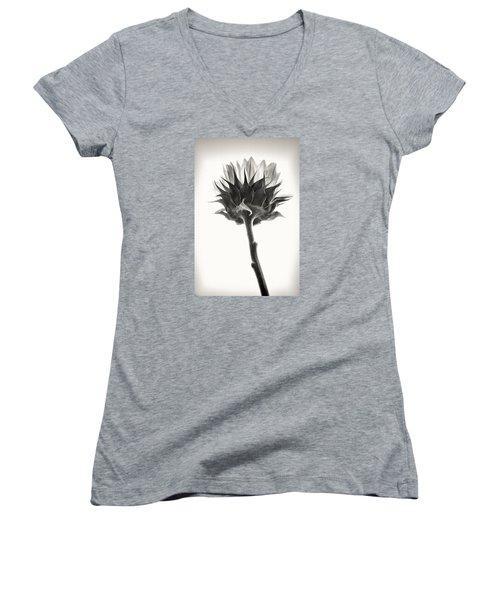 Women's V-Neck T-Shirt (Junior Cut) featuring the photograph Sunflower by John Hansen