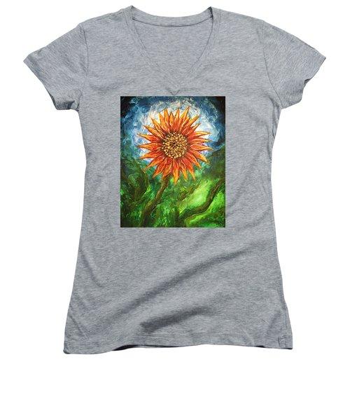 Sunflower Joy Women's V-Neck