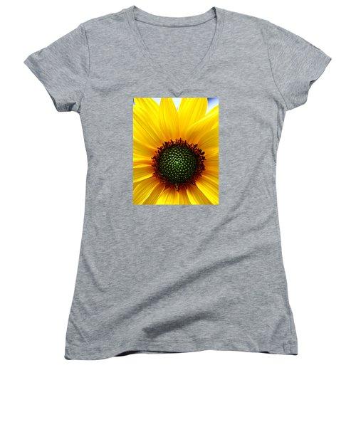 Sunflower Macro Women's V-Neck T-Shirt