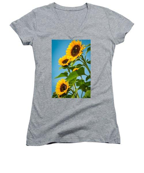Sunflower Morning Women's V-Neck T-Shirt