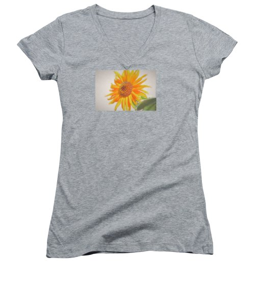Sunflower Painting Women's V-Neck (Athletic Fit)