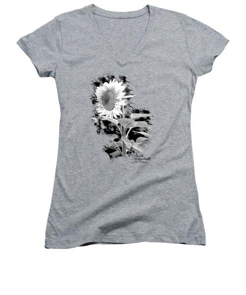 Sunflower Peace Canvas Print,photographic Print,art Print,framed Print,greeting Card,iphone Case, Women's V-Neck