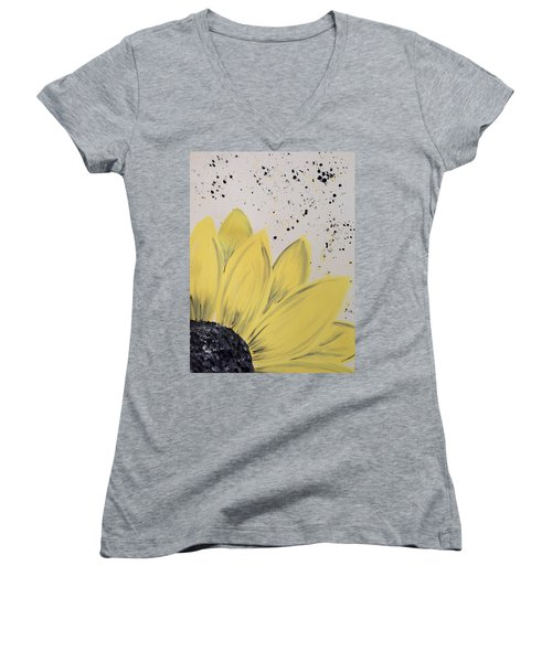 Sunflower Splatter Women's V-Neck
