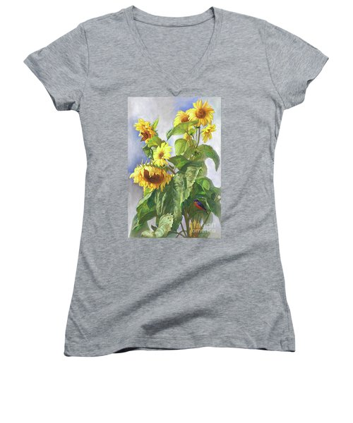 Sunflowers After The Rain Women's V-Neck T-Shirt