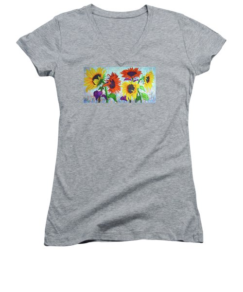 Sunflowers For Elise Women's V-Neck