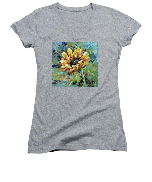 Sunflowers II Women's V-Neck T-Shirt