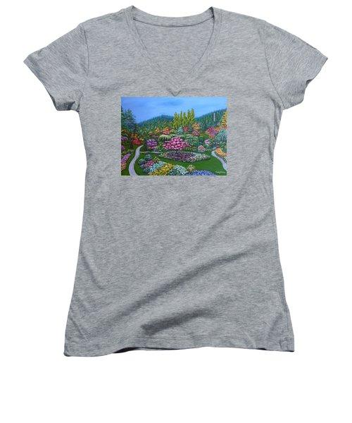 Sunken Garden Women's V-Neck T-Shirt