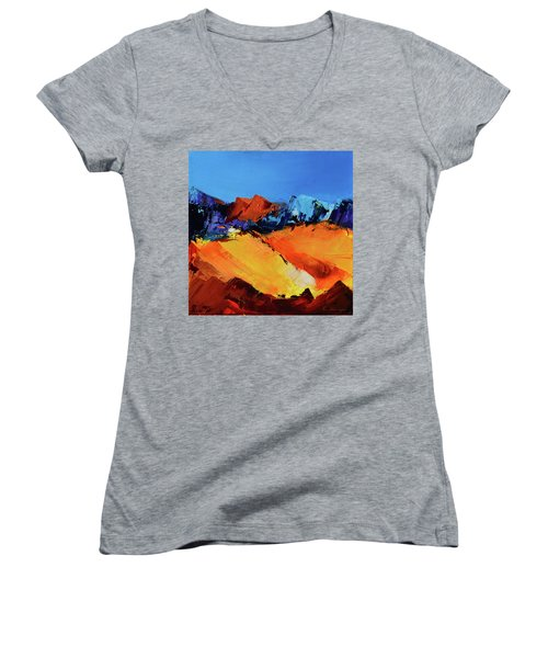 Sunlight In The Valley Women's V-Neck (Athletic Fit)