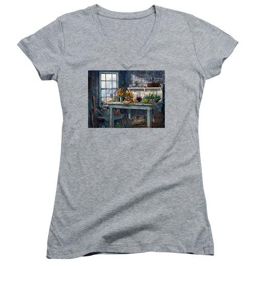 Sunlight Suite Women's V-Neck T-Shirt (Junior Cut)