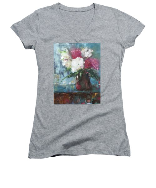 Sunlit Bouquet Women's V-Neck (Athletic Fit)